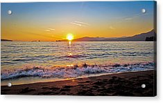 English Bay - Beach Sunset Acrylic Print by Eva Kondzialkiewicz