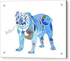 Acrylic Print featuring the painting English Bulldog Bully by Jo Lynch