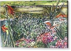 English Garden Acrylic Print by Mindy Newman