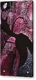 Acrylic Print featuring the painting English Weather by Maya Manolova
