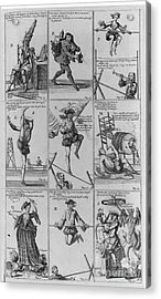 Engravings From The Great Tableau Acrylic Print by Science Source
