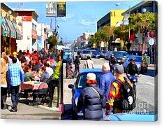 Enjoying The Day At San Francisco Fishermans Wharf . 7d14485 Acrylic Print by Wingsdomain Art and Photography