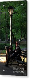 Enjoying The Moment In Central Park II Acrylic Print by Lee Dos Santos