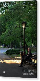Enjoying The Moment In Central Park Acrylic Print by Lee Dos Santos