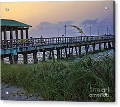 Acrylic Print featuring the photograph Enjoying The Sunrise by Anne Rodkin