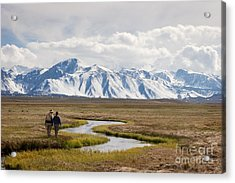 Enjoying The Upper Owens River Acrylic Print by Ei Katsumata