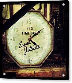 Enna Jetticks Clock Acrylic Print
