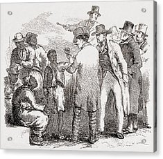 Enslaved African American Sold At An Acrylic Print by Everett