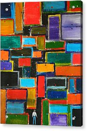 Acrylic Print featuring the painting Enter Here by Everette McMahan jr