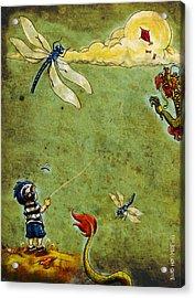Enter The Dragon Acrylic Print by Baird Hoffmire