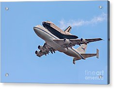 Enterprise Space Shuttle  Acrylic Print by Susan Candelario