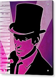 Entertainment Poster With Man In Top Hat Acrylic Print by Photos.com