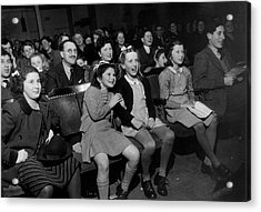 Enthralled Audience Acrylic Print by Kurt Hutton