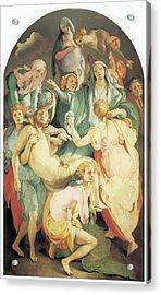 Entombment Acrylic Print by Jacopo Da Pontormo