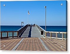 Acrylic Print featuring the photograph Entrance To A Fishing Pier by Susan Leggett