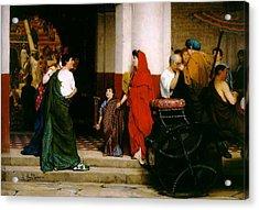 Entrance To A Roman Theatre Acrylic Print by Sir Lawrence Alma-Tadema