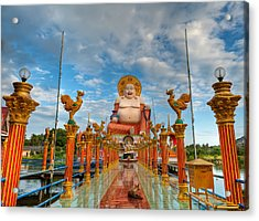Entrance To Buddha Acrylic Print by Adrian Evans