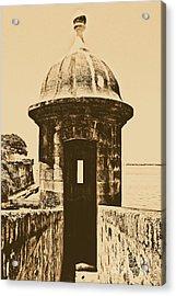 Entrance To Sentry Tower Castillo San Felipe Del Morro Fortress San Juan Puerto Rico Rustic Acrylic Print by Shawn O'Brien