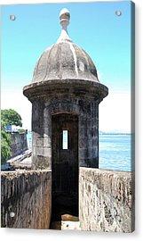 Entrance To Sentry Tower Castillo San Felipe Del Morro Fortress San Juan Puerto Rico Acrylic Print by Shawn O'Brien