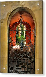 Entrance To Stucco Home Acrylic Print by Steven Ainsworth
