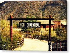 Entrance To The High Chaparral Ranch Acrylic Print by Susanne Van Hulst