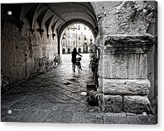 Entry Of The Cyclist Acrylic Print by Michael Avory