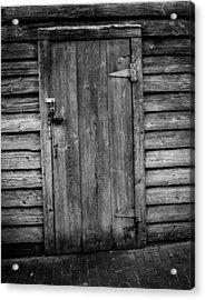 Portrait Of Old Door Acrylic Print by Vintage Pix
