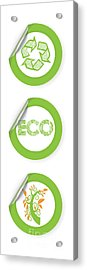 Environmental Sticker Design Acrylic Print by HD Connelly