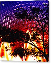 Acrylic Print featuring the photograph Epcot Dream by Mike Flynn