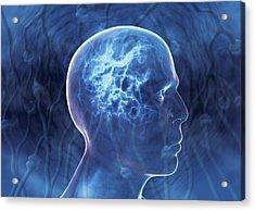 Epilepsy, Conceptual Artwork Acrylic Print by David Mack