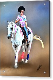Equestrian Competition II Acrylic Print by Tom Schmidt