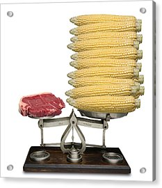 Equivalent Cost Of Meat Acrylic Print by Victor De Schwanberg