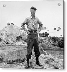 Ernie Pyle (1900-1945). American Journalist. Photograph, C1942 Acrylic Print by Granger