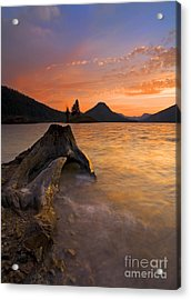 Eroded Away Acrylic Print by Mike  Dawson