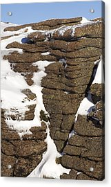 Eroded Granite Acrylic Print by Duncan Shaw
