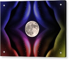 Erotic Moonlight Acrylic Print by Steve K