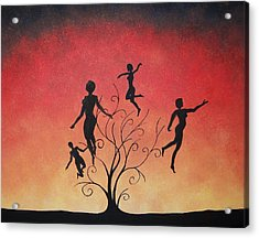 Acrylic Print featuring the painting Errant Souls by Edwin Alverio