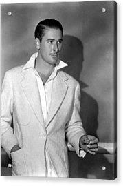 Errol Flynn, May, 1938 Acrylic Print by Everett