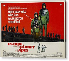 Escape From The Planet Of The Apes, L-r Acrylic Print by Everett