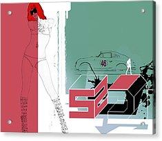 Escape Acrylic Print by Naxart Studio