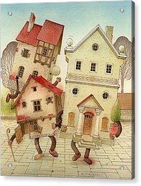 Escaped Houses Acrylic Print by Kestutis Kasparavicius