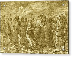 Escaping To Underground Railroad Acrylic Print by Photo Researchers