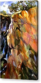 Acrylic Print featuring the painting Escarpment by Rae Andrews