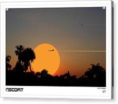 Escort Acrylic Print by Larry Mulvehill