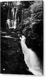 Ess-na-crub Waterfall On The Inver River In Glenariff Forest Park County Antrim Northern Ireland Acrylic Print by Joe Fox