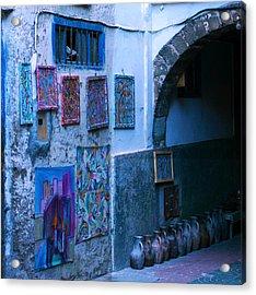 Essaouira Blue Moroccan Acrylic Print