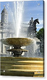 Essential Elements Of Trafalgar Square Acrylic Print by Vicki Jauron