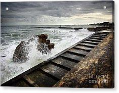 Estoril Coastline Acrylic Print by Carlos Caetano