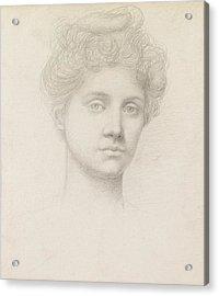 Ethel Pickering Acrylic Print by Evelyn De Morgan
