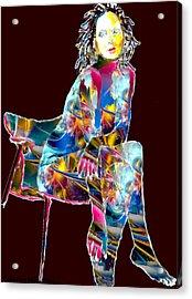 Ethereal Beauty Acrylic Print by Romy Galicia
